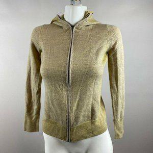 Patagonia Beige Green Full Zip Hoodie Jacket Small